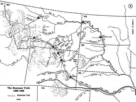 bozeman trail map the bozeman trail a path to the gold fields