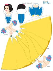 3d Paper Doll Template by Snow White 3d Papercraft Disney Princess