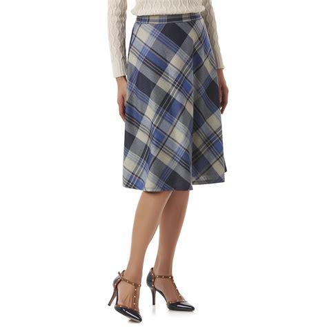 s a line skirt plaid