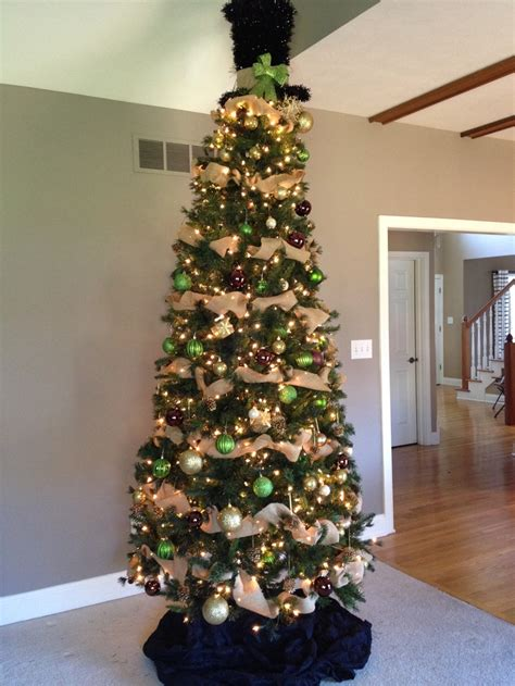burlap christmas tree christmas pinterest