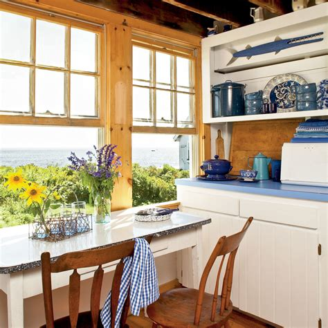 house beautiful cottage living magazine beach kitchen with a view 20 beautiful beach cottages
