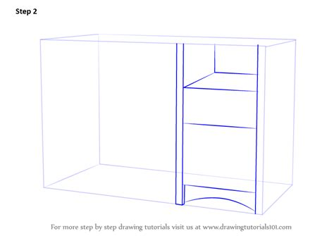 How To Draw A Desk Step By Step by Learn How To Draw A Computer Desk Furniture Step By Step