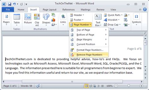 remove layout word insert page numbers in excel across worksheets microsoft