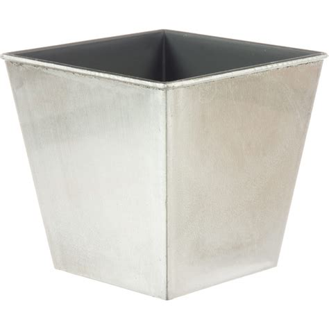 Silver Planter 5 Quot Square Lacquer Planter Metallic Silver P0220svr