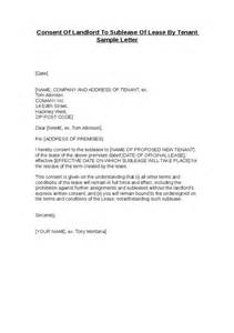 Sublease Agreement Sle Letter Consent Of Landlord To Sublease Of Lease By Tenant Sle Letter Hashdoc