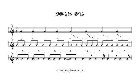 swing noten pin jazz notes on