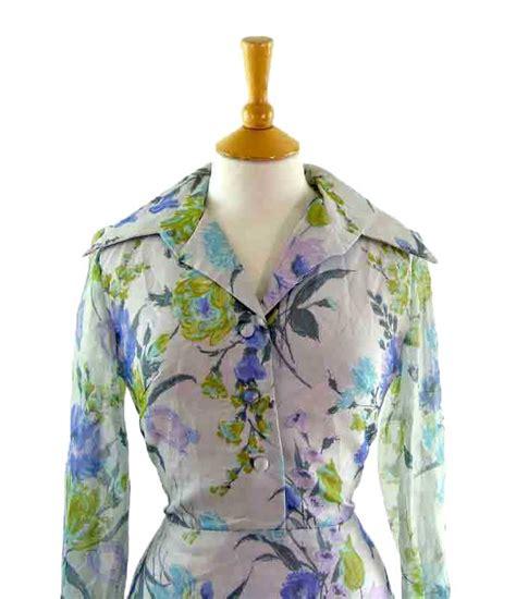 70s floral 70s floral print day dress blue 17 vintage fashion