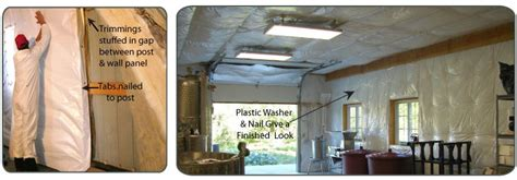 How To Install Plastic Ceiling Panels by Low Cost Insulation For Insulating Pole Barns And Buildings