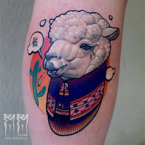 sheep tattoo sheep on calf best ideas gallery