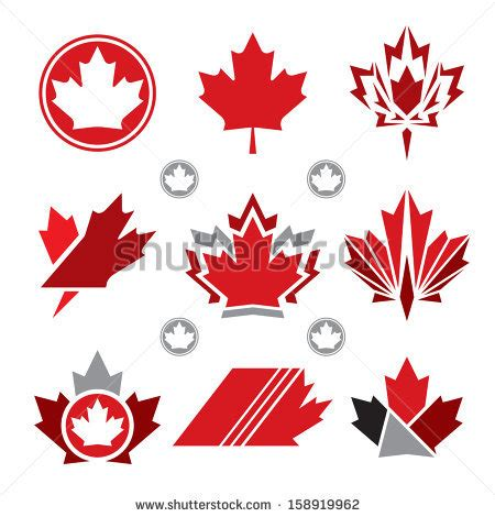 Canadian Mailing Address Lookup A Set Of Unique Canadian Maple Leaf Vector Icons 158919962