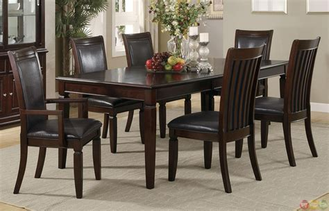 casual dining room set ramona 7 piece walnut finish casual dining room set