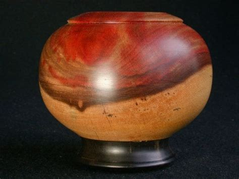 lv  pink flame ebony hand turned wooden bowl hollow