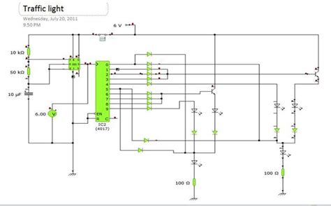 two way 12 led s running lights using 4017 and 555 astable electronics traffic light circuit engineermaths power