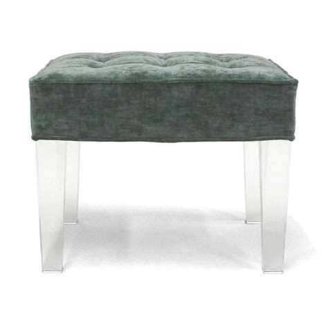 lucite ottoman legs lucite ottoman legs ottoman with lucite legs chairish