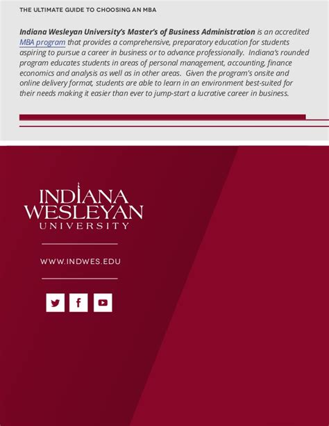 Indiana Wesleyan Mba Accreditation by The Ultimate Guide To Choosing An Mba
