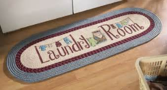 classic blue laundry room runner rug decorative accent