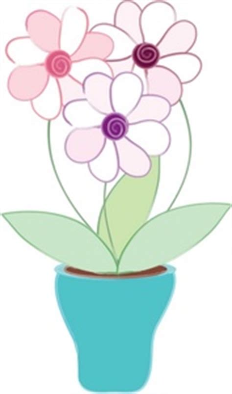 flowers clipart image 3 flowers growing in a pot or vase