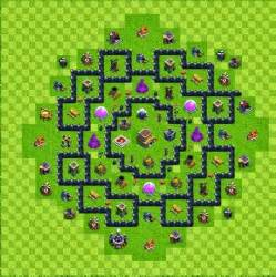 Baca juga tipe defense base layout town hall level 7 clash of clans