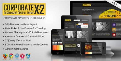 themeforest drupal 7 corporate x themeforest multipurpose drupal 7 theme