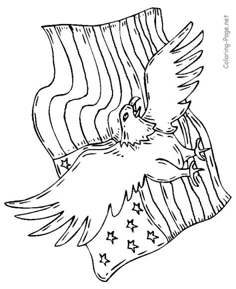 usa eagle coloring page american eagle and flag printable coloring pages