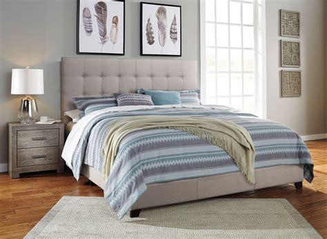 culverbach bedroom set  beige upholstered bed signature design furniture cart