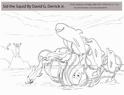 giant squid coloring coloring pages