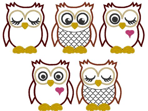 owl embroidery design applique other owls machine embroidery applique design a unique