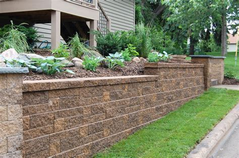 Block Retaining Walls Hold Soil Or Backfill And Help Garden Wall Retaining Blocks