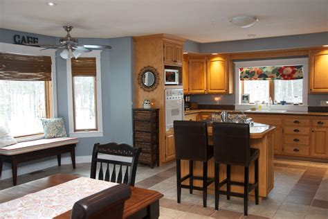 gray kitchen walls with oak cabinets oak kitchen with blue grey wall color kitchen reno is not