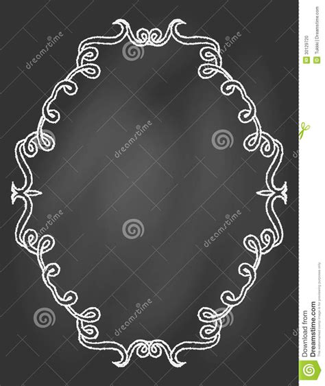 ornamental frame on chalkboard stock photo image 30129720