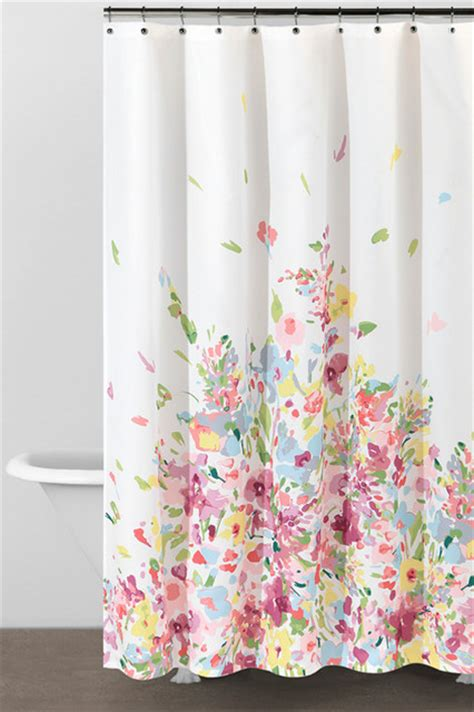watercolor shower curtain watercolor bouquet shower curtain contemporary shower
