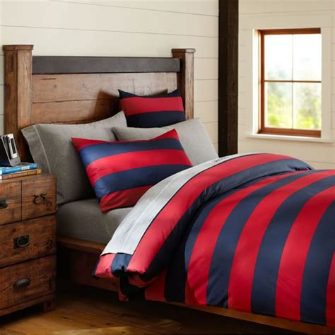 rugby stripe bedding rugby stripe duvet cover sham pbteen