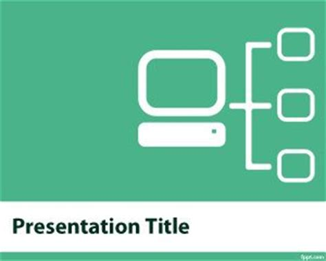 computer network powerpoint template plantillas