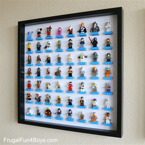 display mini ikea frame lego minifigure display and storage