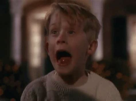 screaming home alone gif find on giphy