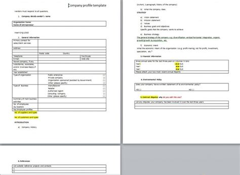 download free sle company profile word templates from