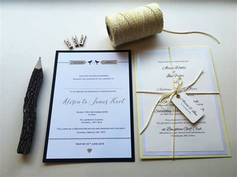 Wedding Invitation Design   Millbank and Kent