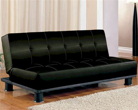 coaster furniture sofa coaster furniture armless convertible sofa bed in black