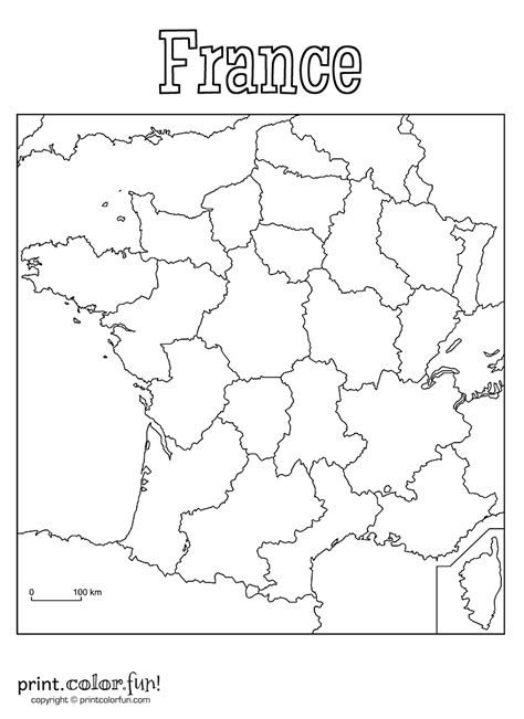 printable maps france free coloring pages of europe blank physical map