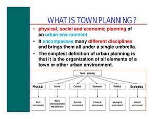 Town Planning introduction to town planning