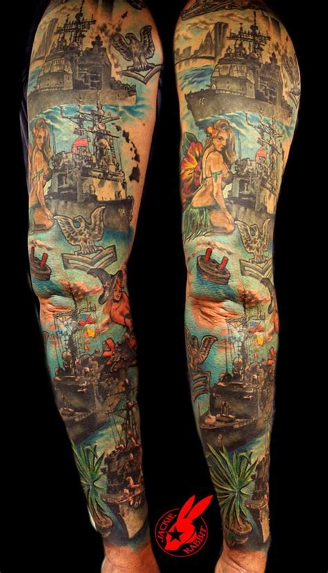 navy sleeve tattoo designs navy ship tattoos