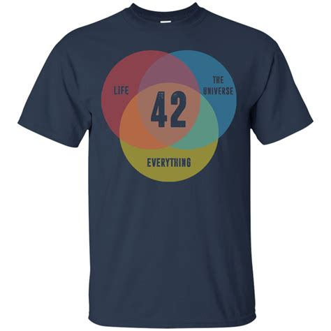 venn diagram 42 the universe everything t shirt