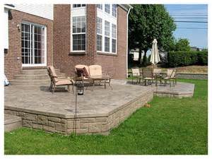 Diy Stamped Concrete Patio Stamped Concrete Patios Spacious Two Tier Stamped Patio