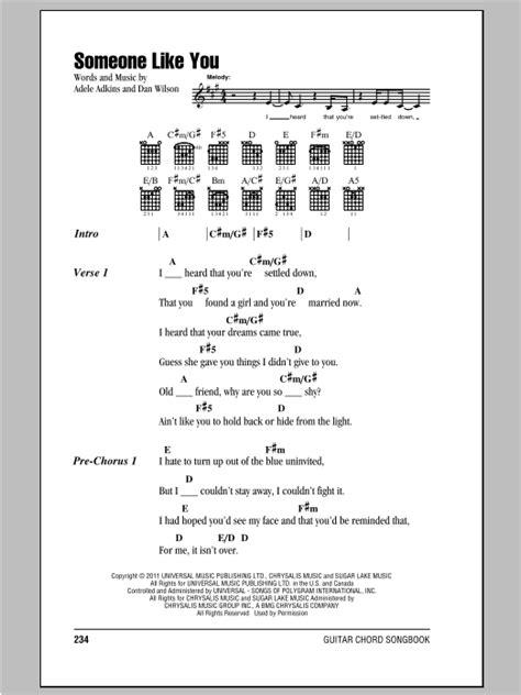 guitar tutorial adele someone like you someone like you by adele guitar chords lyrics guitar