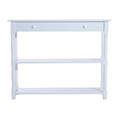 White Hallway Console Table Homcom 3 Tier Console Table White Hallway Table On Onbuy