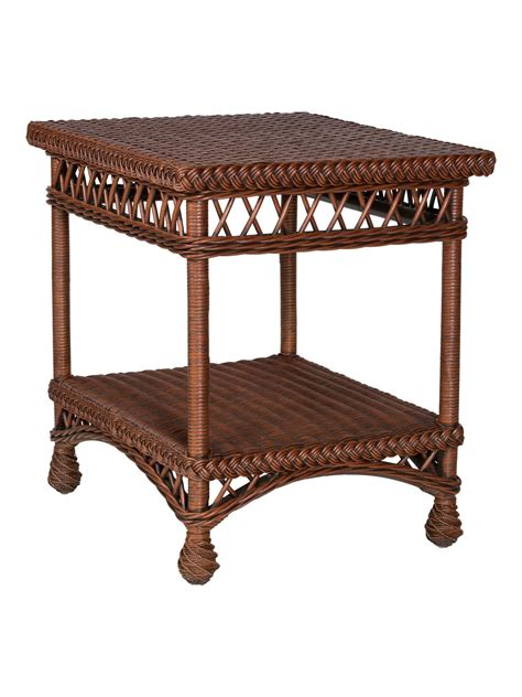 wicker end tables sale harbor wicker end table cottage home 174