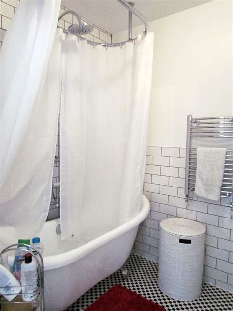 shower rail for roll top bath the style pa at home a shower curtain rod for our