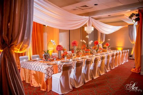 orange and silver wedding decor pin by creations by debbie debbie sumner on canopy