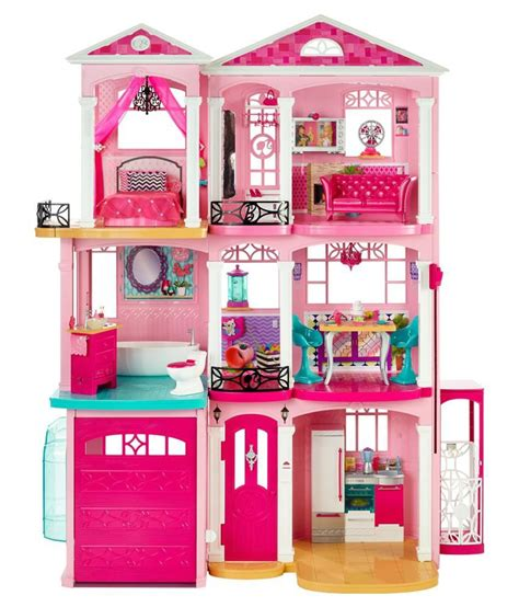 pink doll house barbie pink plastic doll house buy barbie pink plastic doll house online at low
