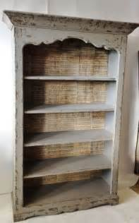 Distressed Bookcases Furniture Modern Backless Distressed Bookcase Decor